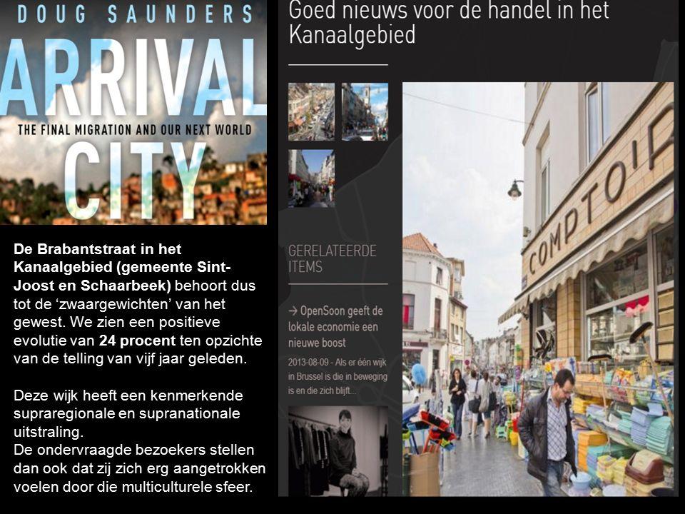 De Brabantstraat in het Kanaalgebied (gemeente Sint- Joost en Schaarbeek) behoort dus tot de 'zwaargewichten' van het gewest. We zien een positieve ev