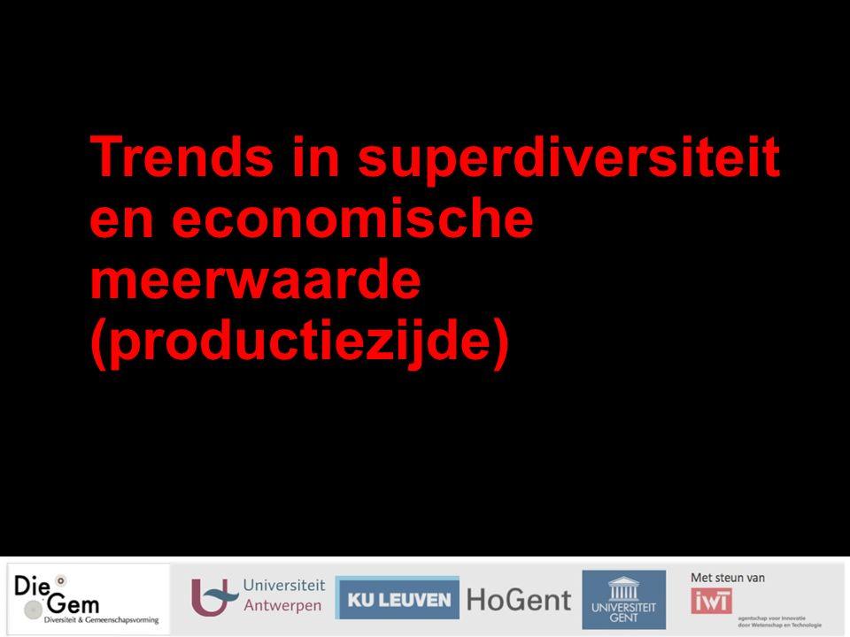 Trends in superdiversiteit en economische meerwaarde (productiezijde) 26