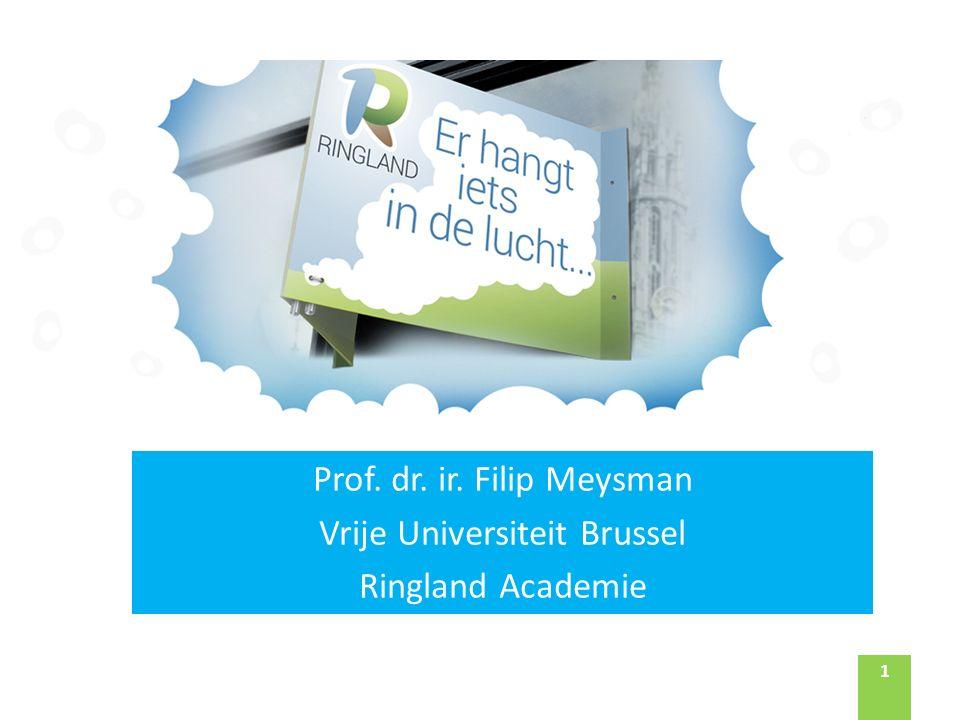 11 Prof. dr. ir. Filip Meysman Vrije Universiteit Brussel Ringland Academie