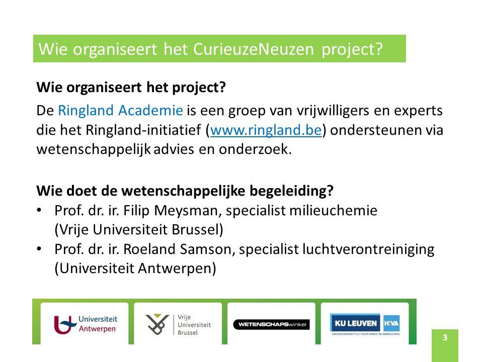 3 Wie organiseert het project.