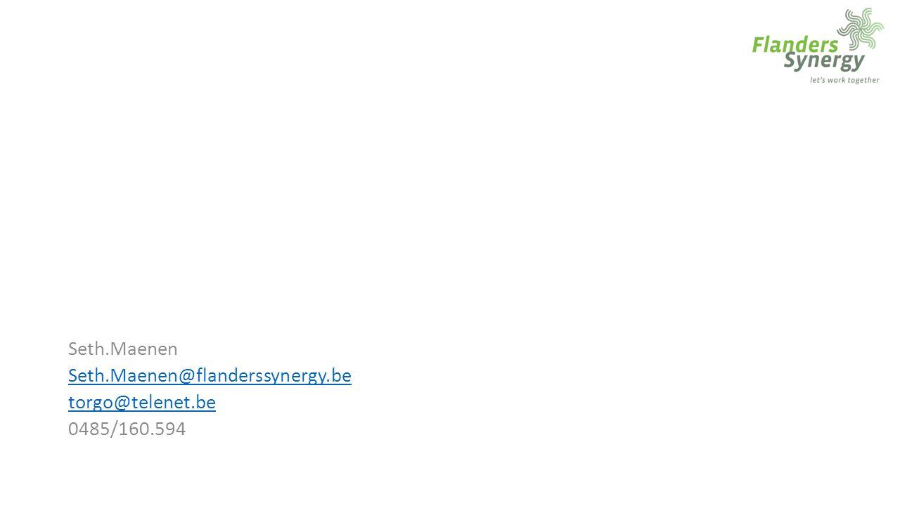 Seth.Maenen Seth.Maenen@flanderssynergy.be torgo@telenet.be 0485/160.594