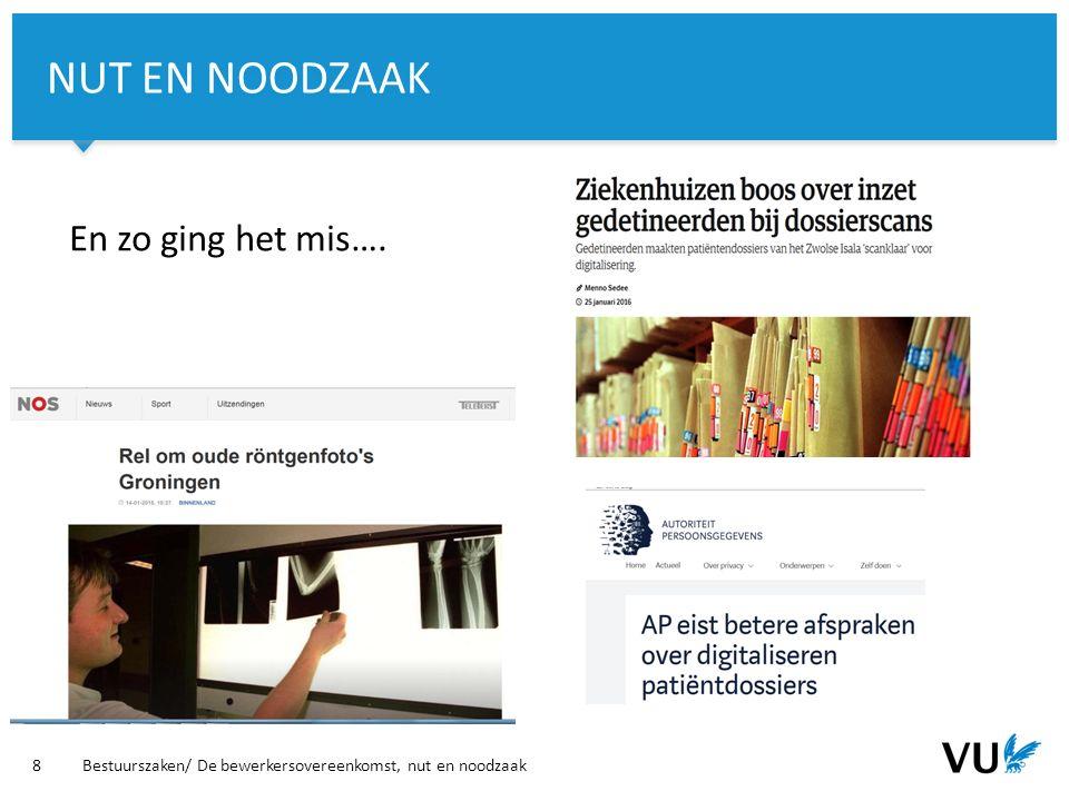Vrije Universiteit Amsterdam En zo ging het mis….
