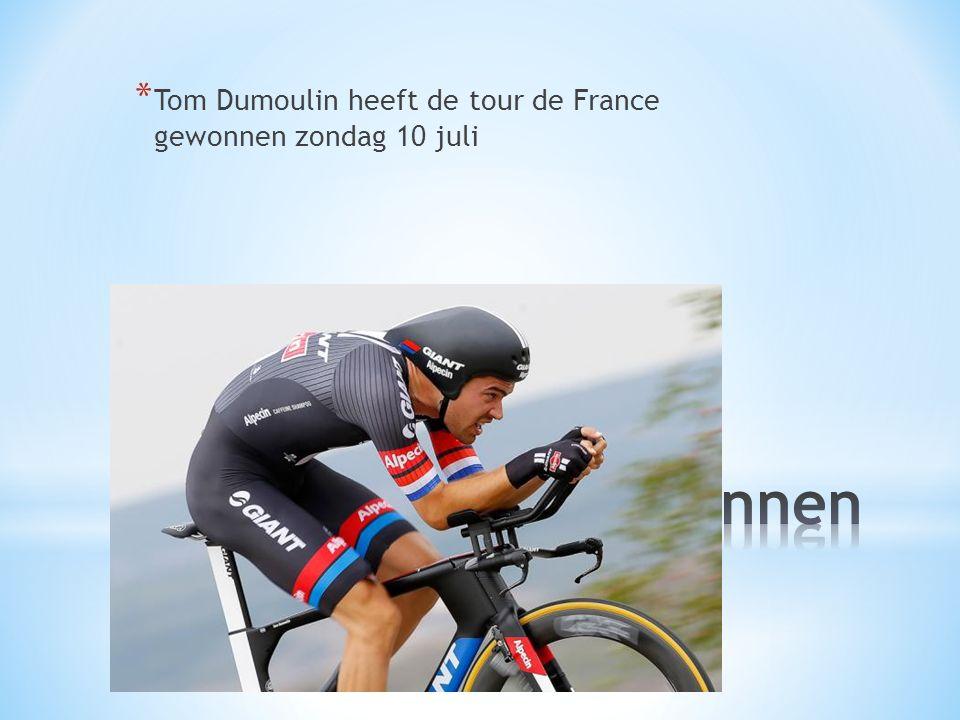 * Tom Dumoulin heeft de tour de France gewonnen zondag 10 juli