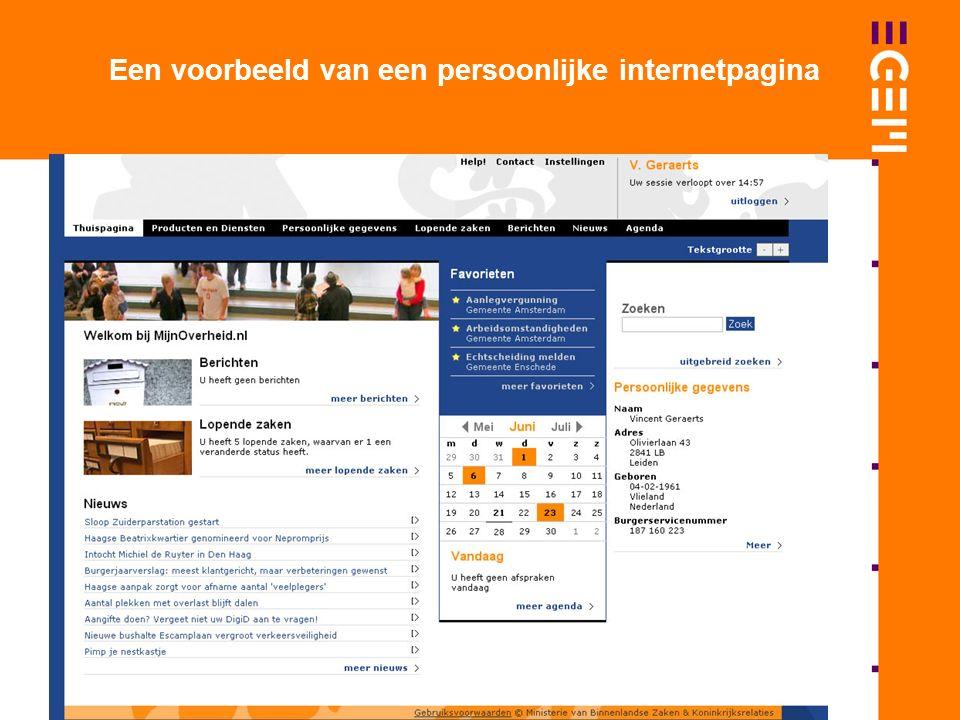 Een voorbeeld van een persoonlijke internetpagina
