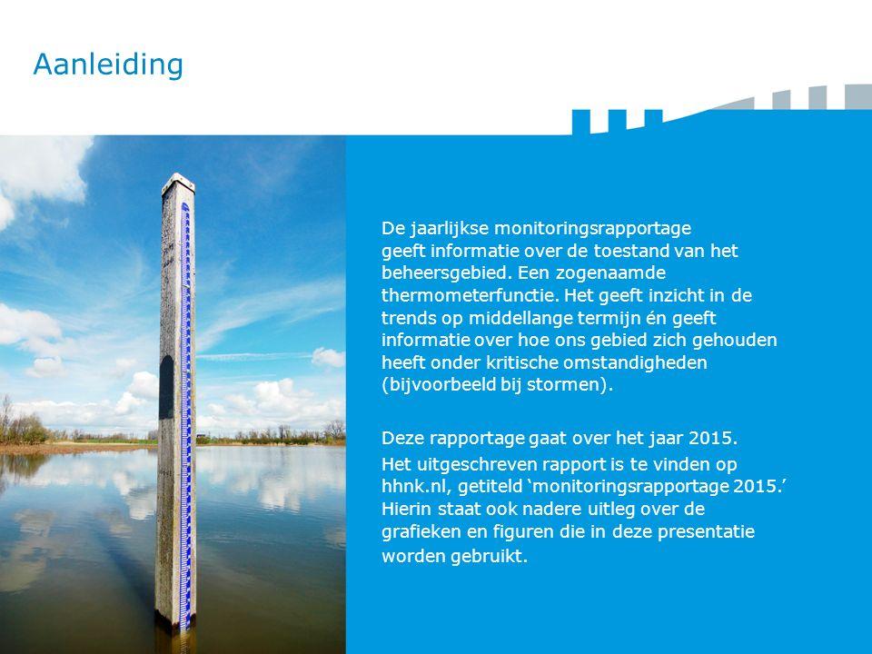 Aanleiding De jaarlijkse monitoringsrapportage geeft informatie over de toestand van het beheersgebied.