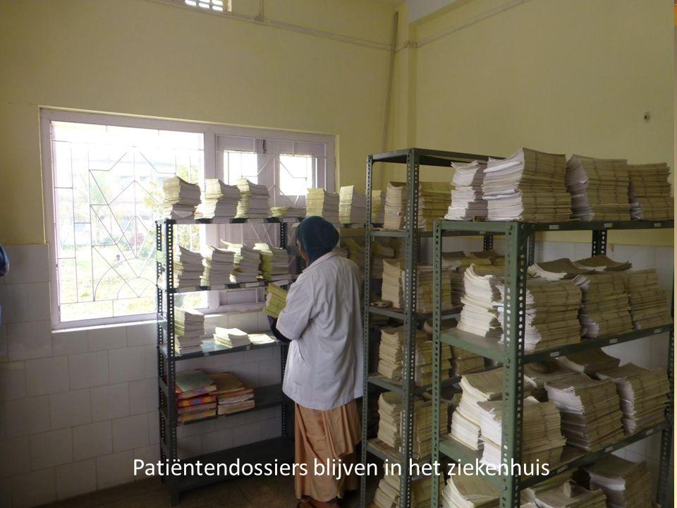 Patiëntendossiers blijven in het ziekenhuis