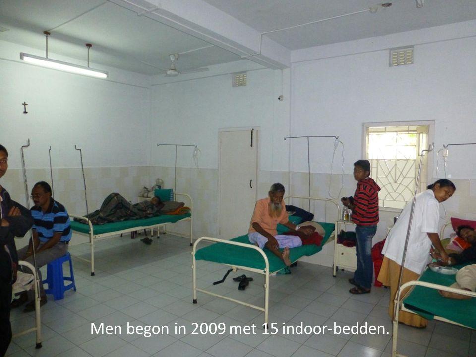 Men begon in 2009 met 15 indoor-bedden.