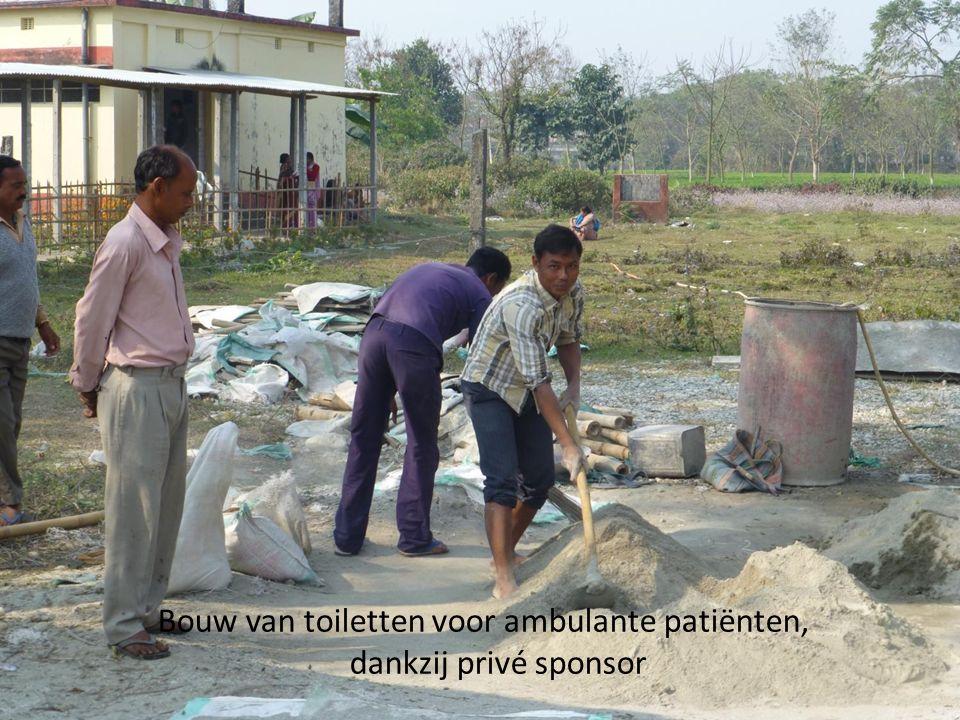 Bouw van toiletten voor ambulante patiënten, dankzij privé sponsor