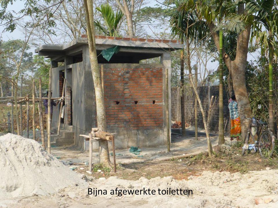Bijna afgewerkte toiletten