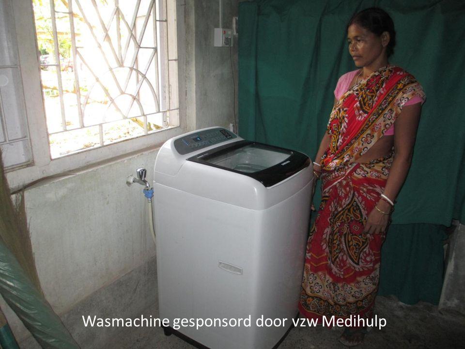 Wasmachine gesponsord door vzw Medihulp