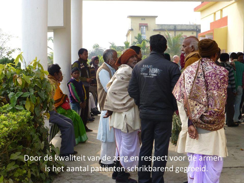 Door de kwaliteit van de zorg en respect voor de armen is het aantal patiënten schrikbarend gegroeid.