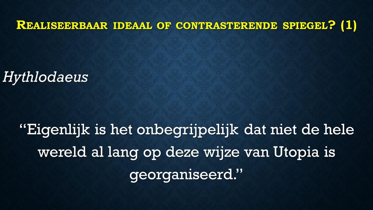 R EALISEERBAAR IDEAAL OF CONTRASTERENDE SPIEGEL .