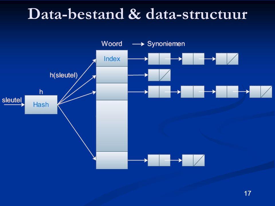 17 Data-bestand & data-structuur