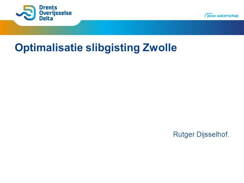 Slibgisting Slib: restproduct zuiveringsproces Slib vergisten>biogas>elektriciteit en warmte Vergisten>reductie slibvolume 30%