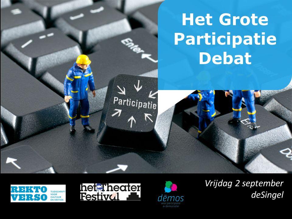 Het Grote Participatie Debat Vrijdag 2 september deSingel
