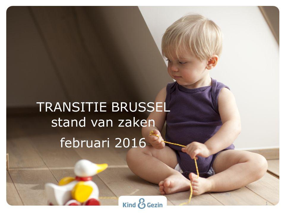 Specifieke problemen Brussel Bevoegdheidsverdeling Veel Franstalige opvang kiest toch voor K&G Nieuw decreet als opportuniteit Gemeenschappelijk transitieplan K&G/ONE SITUERING 2