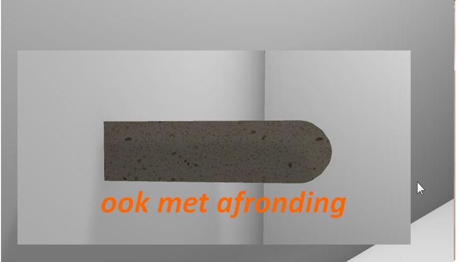Natuursteen assistent Kies een bron afbeelding Geef de gewenste maten Klok op ok En plaats de plaat in de ruimte Inbouwhoogte is standaard 85 cm