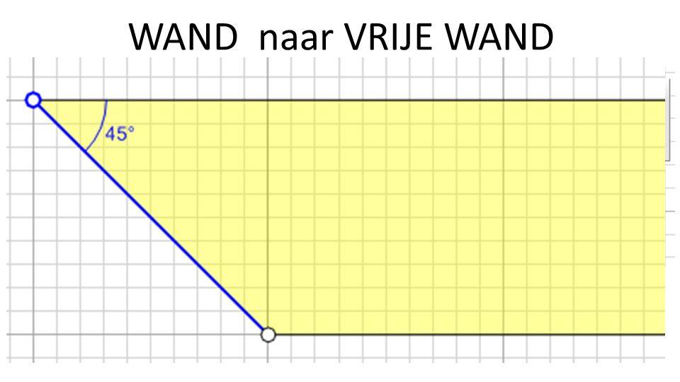 WAND naar VRIJE WAND Rechtsklik op een wand, kies: In vrije wand converteren.