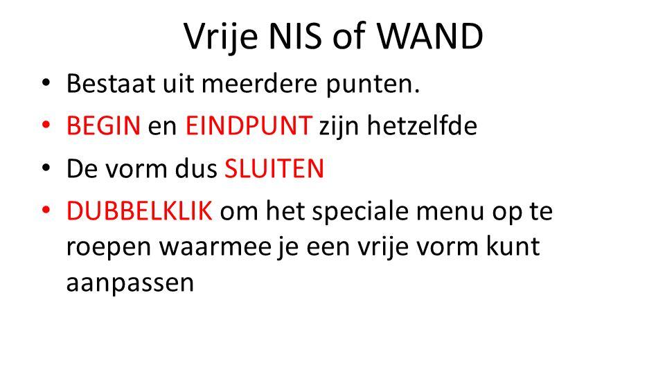Vrije NIS of WAND Bestaat uit meerdere punten.