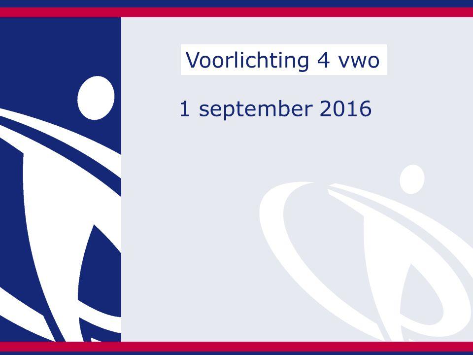 1 september 2016 Voorlichting 4 vwo