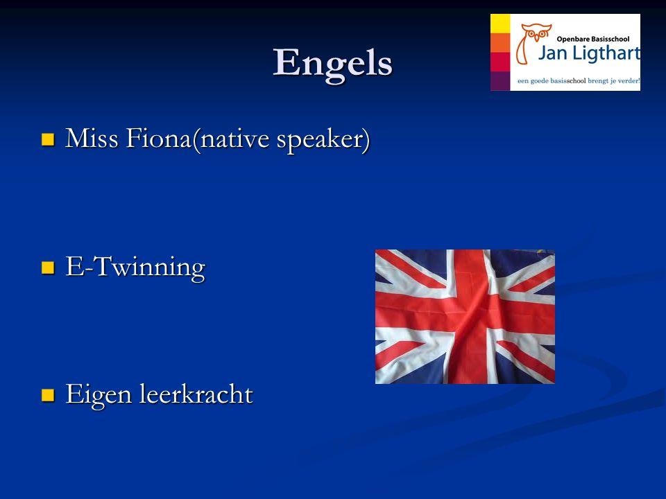 Engels Miss Fiona(native speaker) Miss Fiona(native speaker) E-Twinning E-Twinning Eigen leerkracht Eigen leerkracht