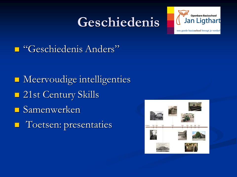 "Geschiedenis ""Geschiedenis Anders"" ""Geschiedenis Anders"" Meervoudige intelligenties Meervoudige intelligenties 21st Century Skills 21st Century Skills"