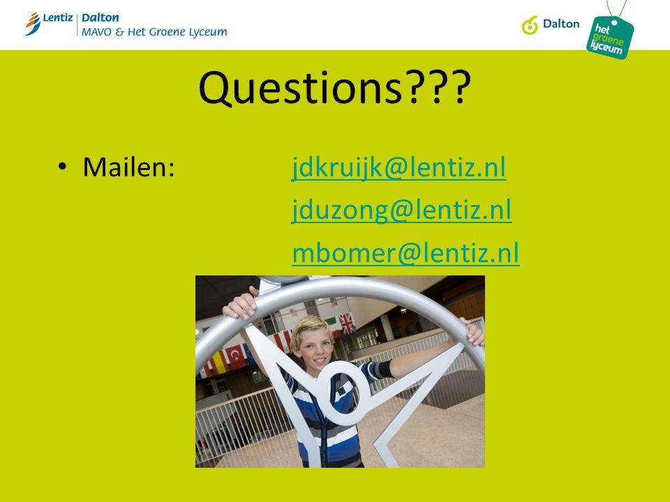 Questions Mailen: jdkruijk@lentiz.nljdkruijk@lentiz.nl jduzong@lentiz.nl mbomer@lentiz.nl