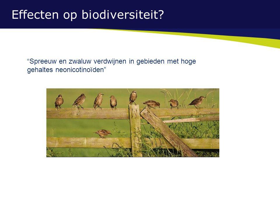 Effecten op biodiversiteit.