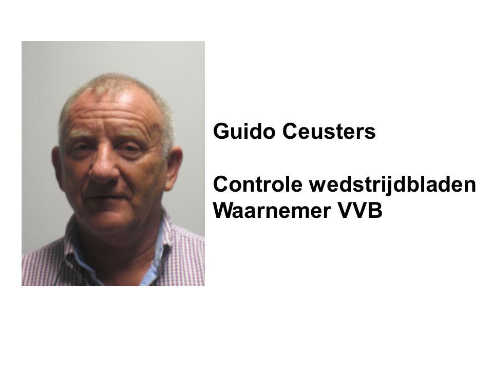 Guido Ceusters Controle wedstrijdbladen Waarnemer VVB