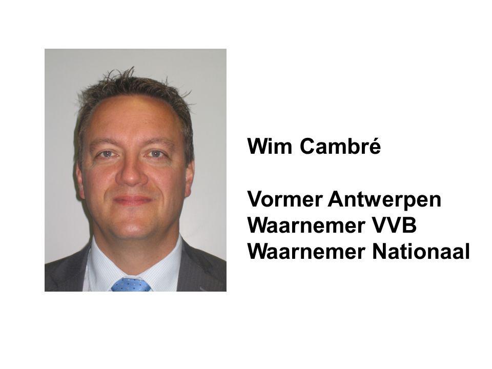 Wim Cambré Vormer Antwerpen Waarnemer VVB Waarnemer Nationaal