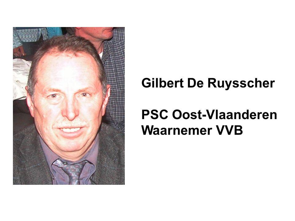 Gilbert De Ruysscher PSC Oost-Vlaanderen Waarnemer VVB