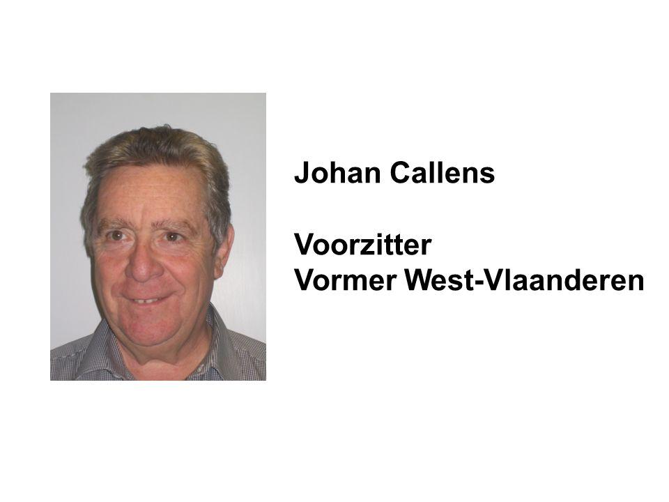 Johan Callens Voorzitter Vormer West-Vlaanderen