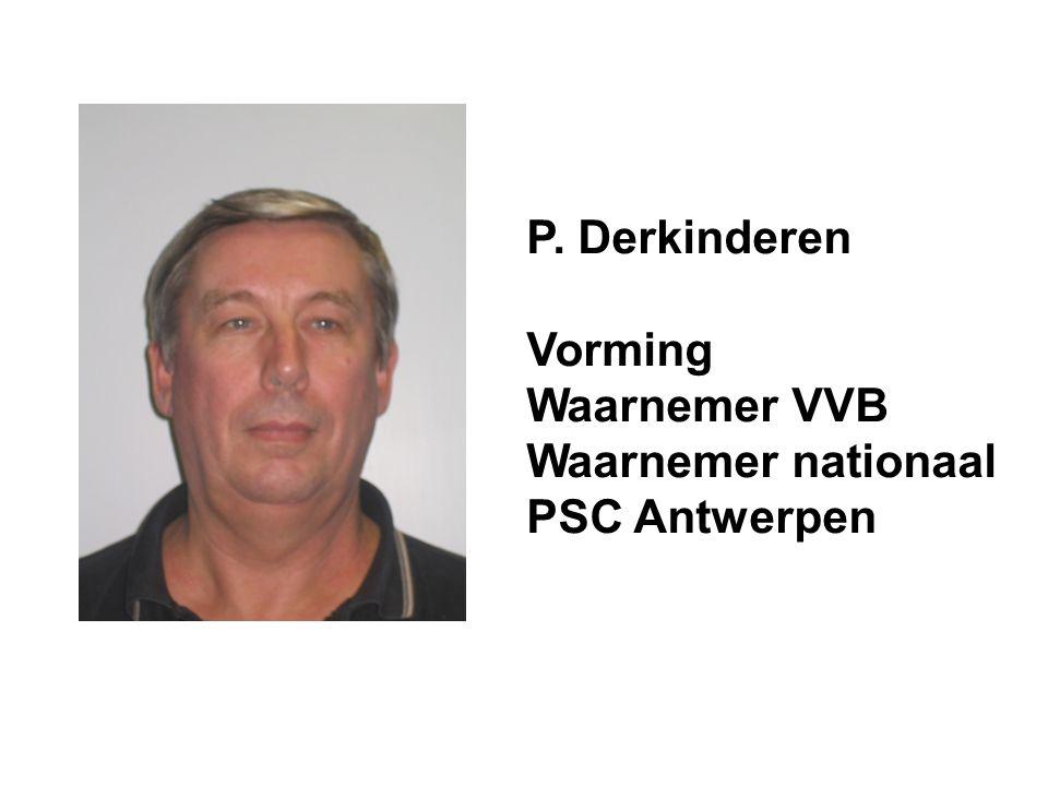P. Derkinderen Vorming Waarnemer VVB Waarnemer nationaal PSC Antwerpen