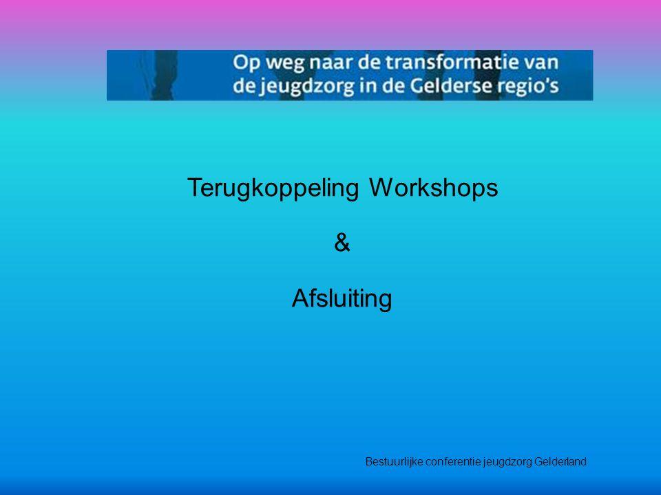 Terugkoppeling Workshops & Afsluiting