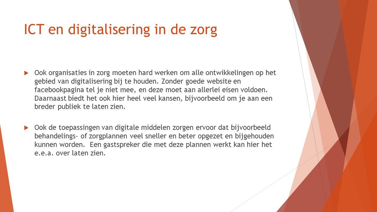 Digitalisering in zorgplannen Allereerst:  Wat is een zorgplan, ondersteuningsplan, behandelingsplan.