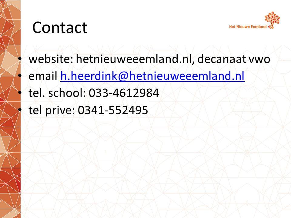 Contact website: hetnieuweeemland.nl, decanaat vwo email h.heerdink@hetnieuweeemland.nlh.heerdink@hetnieuweeemland.nl tel.