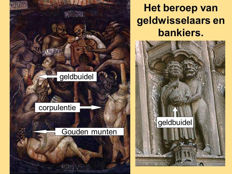 geldbuidel Gouden munten corpulentie geldbuidel Het beroep van geldwisselaars en bankiers.