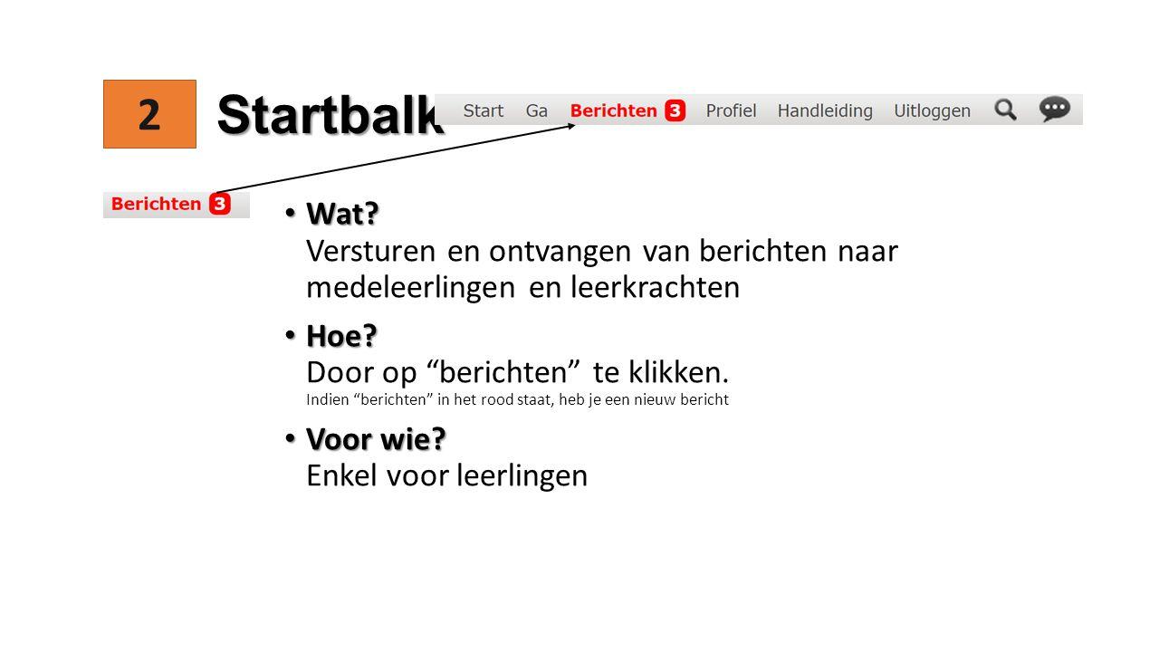 2 Startbalk Wat. Wat.