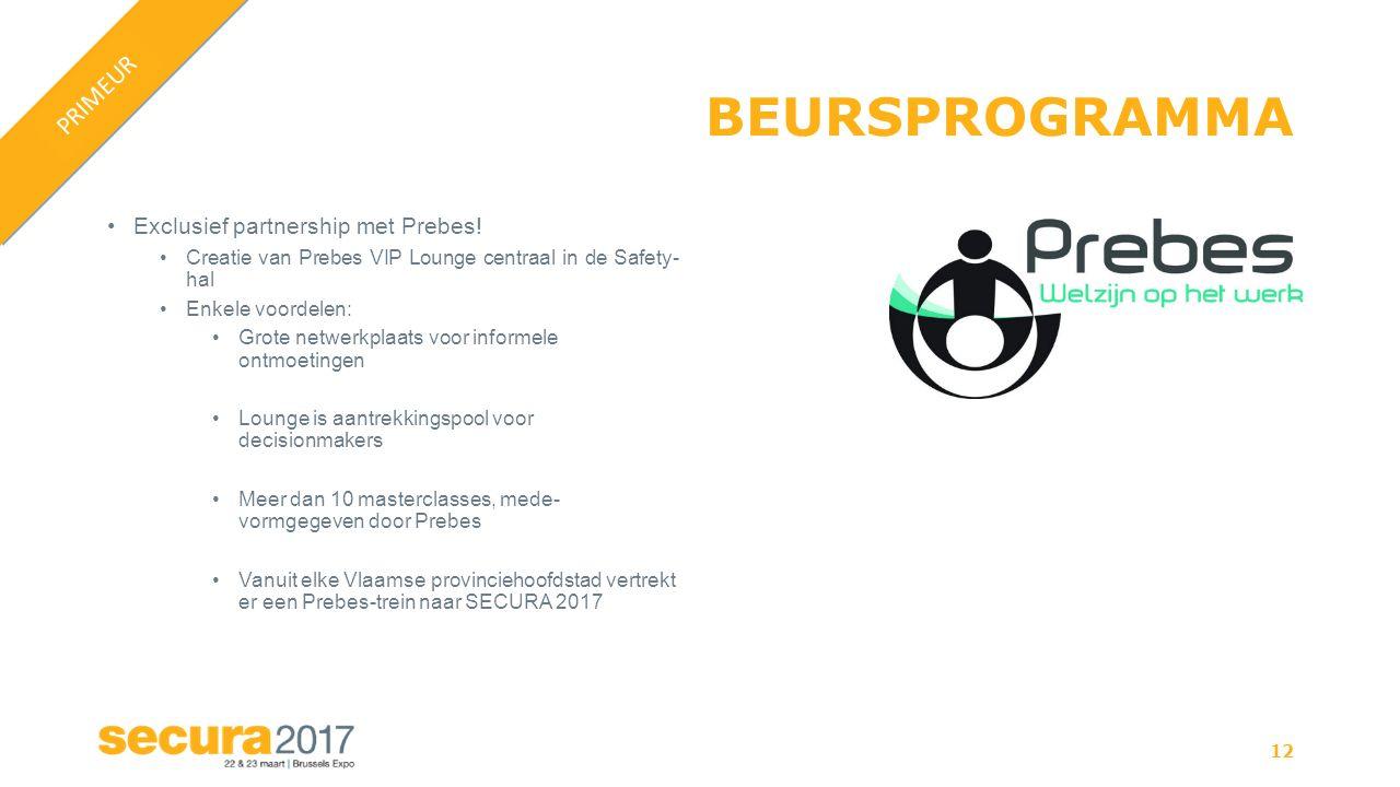 BEURSPROGRAMMA Exclusief partnership met Prebes.