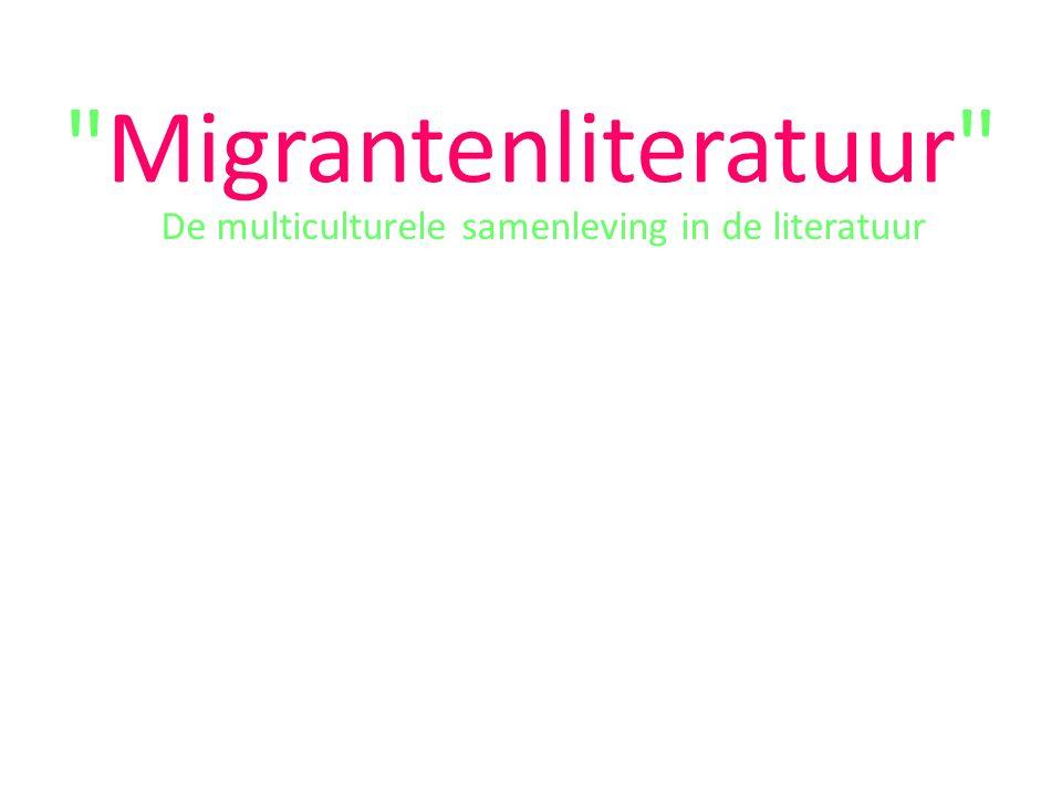 Migrantenliteratuur De multiculturele samenleving in de literatuur