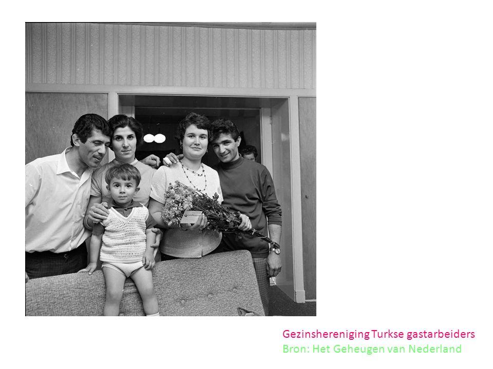 Gezinshereniging Turkse gastarbeiders Bron: Het Geheugen van Nederland