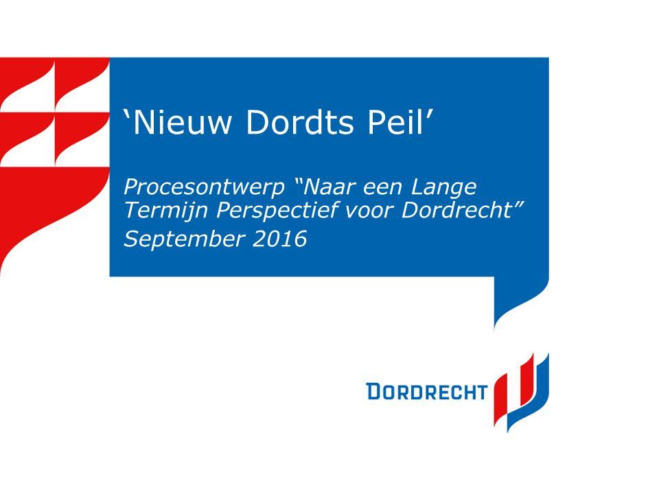 """'Nieuw Dordts Peil' Procesontwerp """"Naar een Lange Termijn Perspectief voor Dordrecht"""" September 2016"""