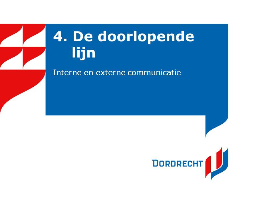 4. De doorlopende lijn Interne en externe communicatie