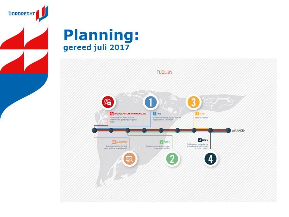 Planning: gereed juli 2017