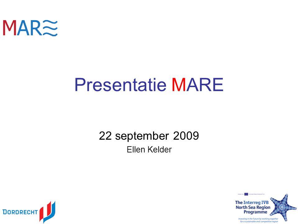 Presentatie Waarom MARE? Wat gaan we doen? Koppeling (inter)nationale projecten