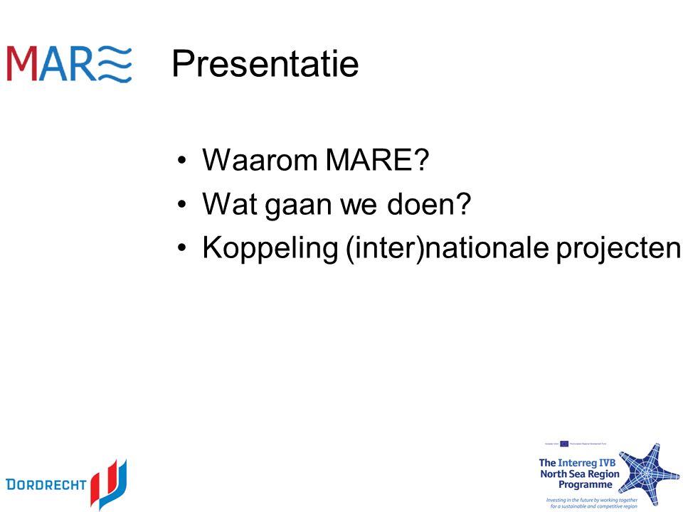 Presentatie Waarom MARE Wat gaan we doen Koppeling (inter)nationale projecten