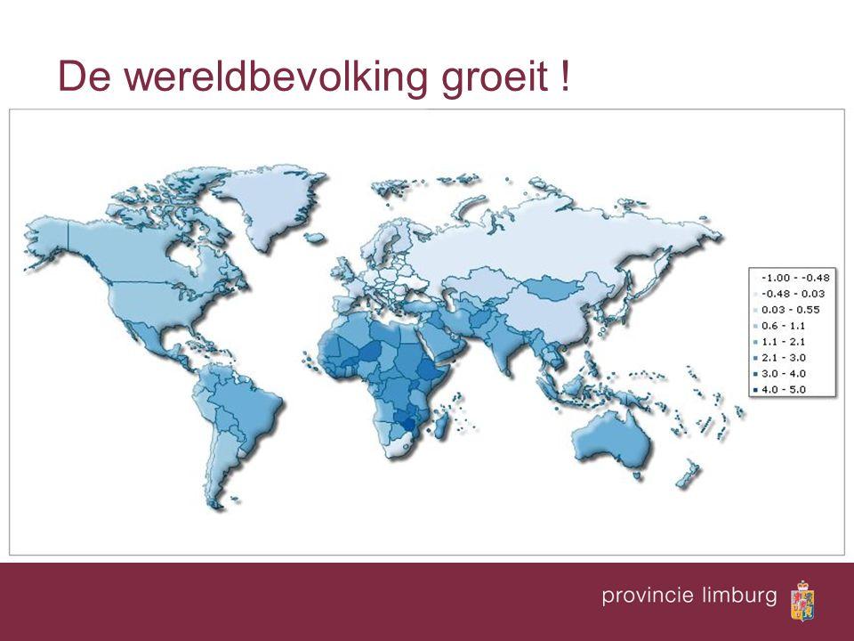 De wereldbevolking groeit !