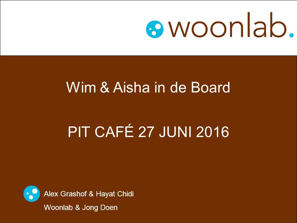 Wim & Aisha in de Board PIT CAFÉ 27 JUNI 2016 Alex Grashof & Hayat Chidi Woonlab & Jong Doen