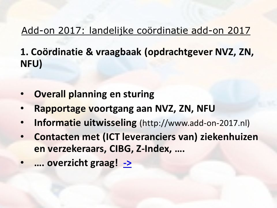 Add-on 2017: landelijke coördinatie add-on 2017 1.