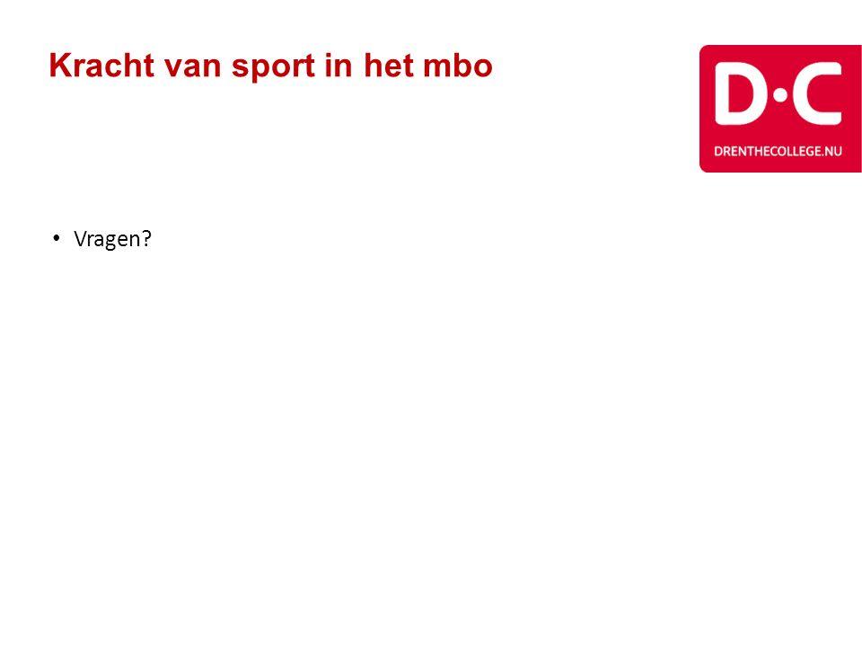 Kracht van sport in het mbo Vragen